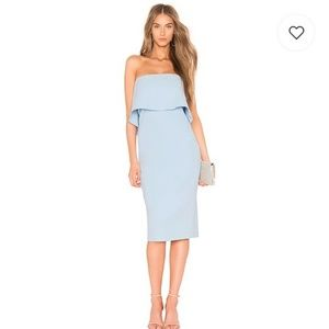 LIKELY Driggs Strapless Midi Dress Blue Bell NWT